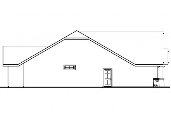 Traditional House Plan - Pinedale 30-228 - Right Elevation