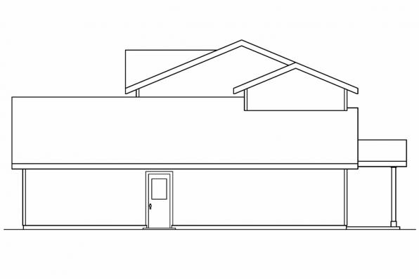 Traditional House Plan - Wethersfield 30-702 - Left Elevation