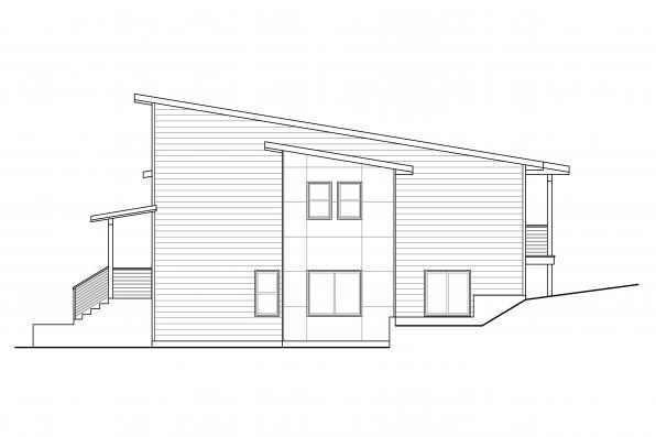 Contemporary House Design Sheffield 31-160 - Left Elevation