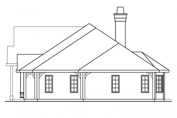 Tuscan House Plan - Macon 30-229 - Left Elevation