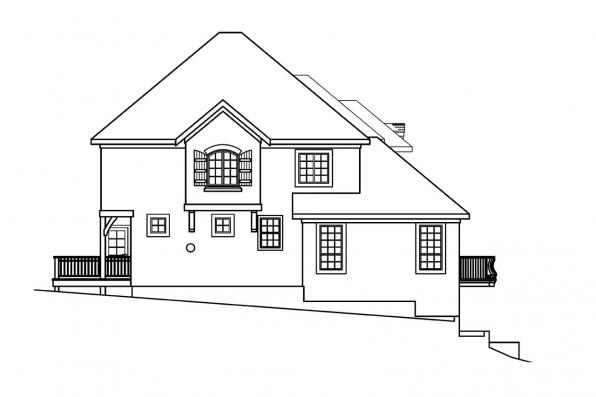 Tuscan House Plan - Marseille 30-421 - Right Elevation