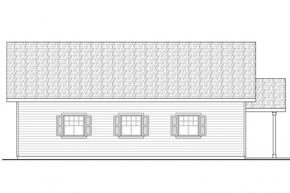 Two Car Garage Plan 20-138 - Right Elevation