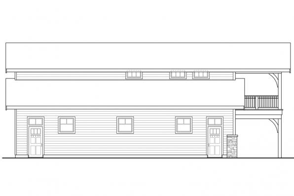 Two Story Garage Plan 20-144 - Right Elevation