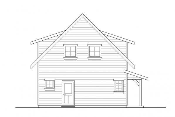 Two Story House Plan - Bayberry 31-248 - Right Elevation