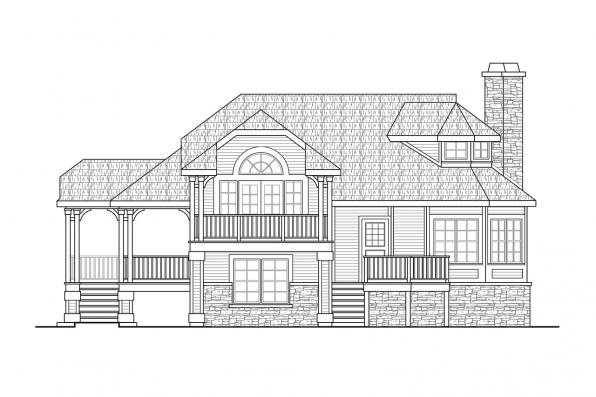 Two Story House Plan - Eagle Creek 30-725 - Front Elevation