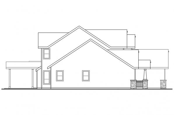 Two Story House Plan - Hillsborough 30-870 - Right Elevation