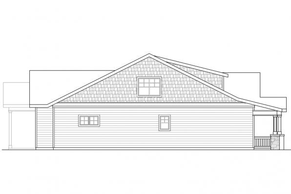 Two Story House Plan - Nantucket 31-027 - Right Elevation