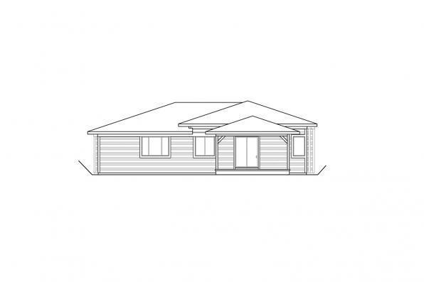 Uphill Lot House Plan - Alpenglow 31-115 - Rear Elevation