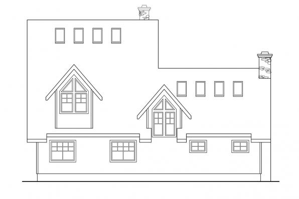 Vacation Home Plan - Avondale 10-347 - Rear Elevation