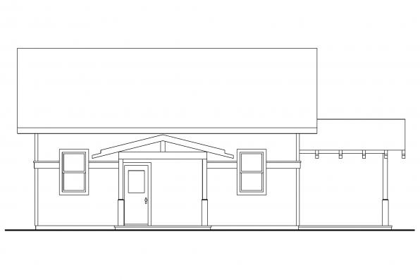 Vacation Home Plan - Kent 30-498 - Rear Elevation