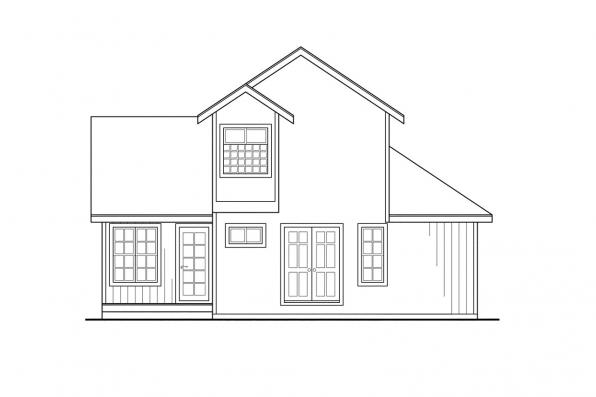 Vacation Home Plan - Riverview 51-003 - Right Elevation