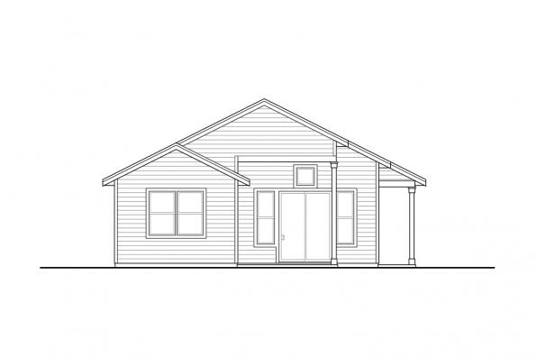 Vacation House Plan - Klickitat 31-129 - Rear Elevation