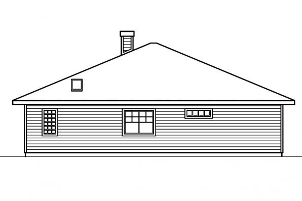 Vacation House Plan - Lincoln 30-203 - Right Elevation