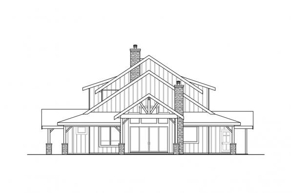 Vacation House Plan - Wind River 31-241 - Left Elevation