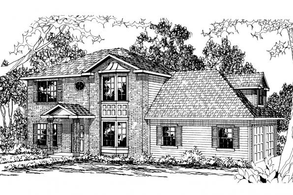 Victorian House Plan - Ashwood 30-092 - Front Elevation