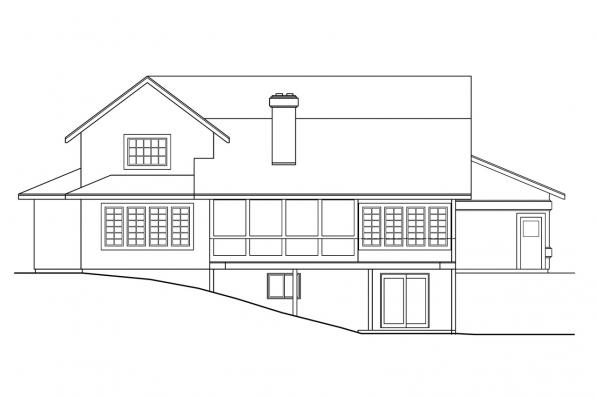View Lot House Plan - Artesia 10-168 - Rear Elevation