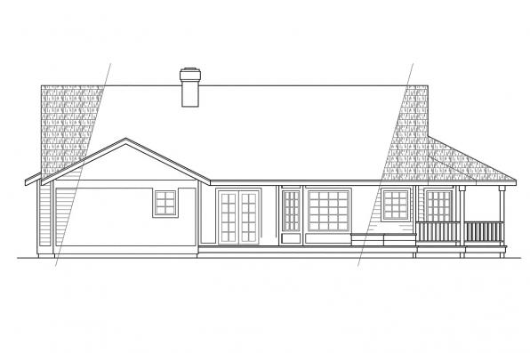 View Lot House Plan - Crescent 10-106 - Rear Elevation
