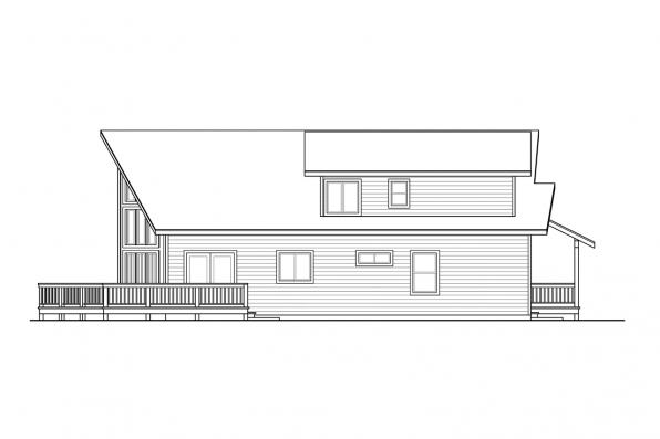 View Lot House Plan - Logsden 31-075 - Right Elevation