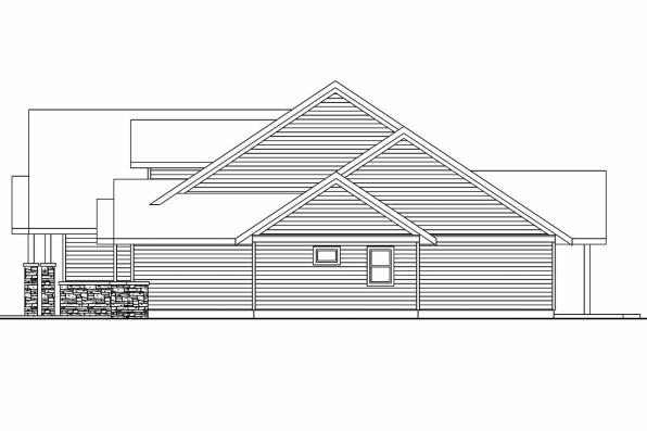 View Lot House Plan - Oakley 30-691 - Left Elevation
