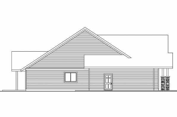 View Lot House Plan - Oakley 30-691 - Right Elevation