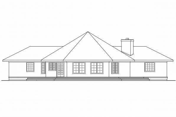 View Lot House Plan - Sonora 10-533 - Rear Elevation