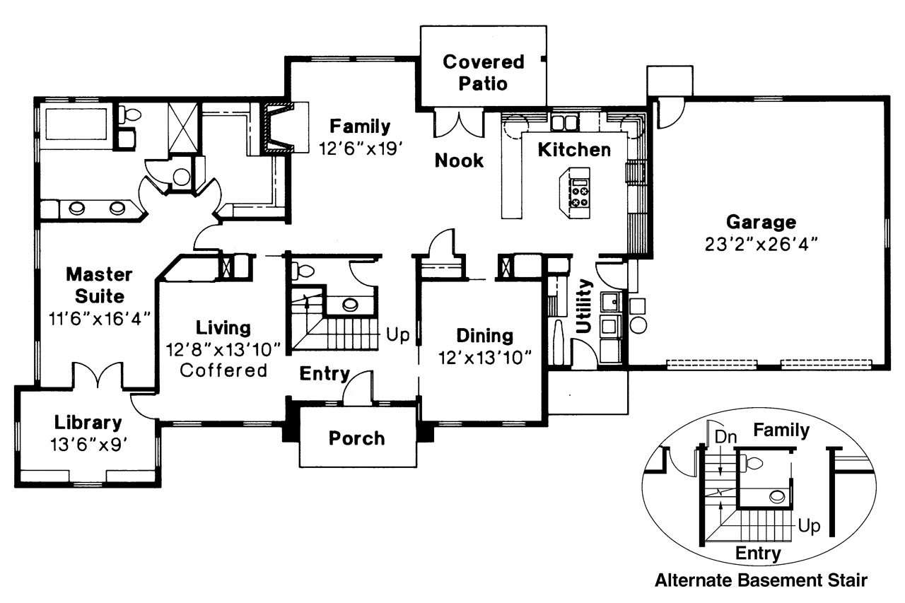 Classic House Plan   Greenville 30 028   1st Floor Plan ... Good Ideas