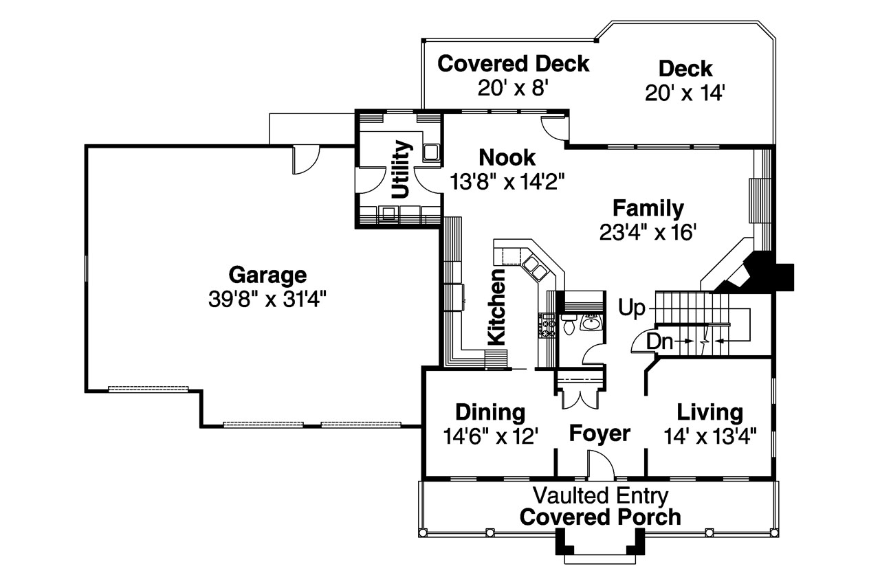 Colonial house plans hanson 30 394 associated designs for Colonial homes floor plans