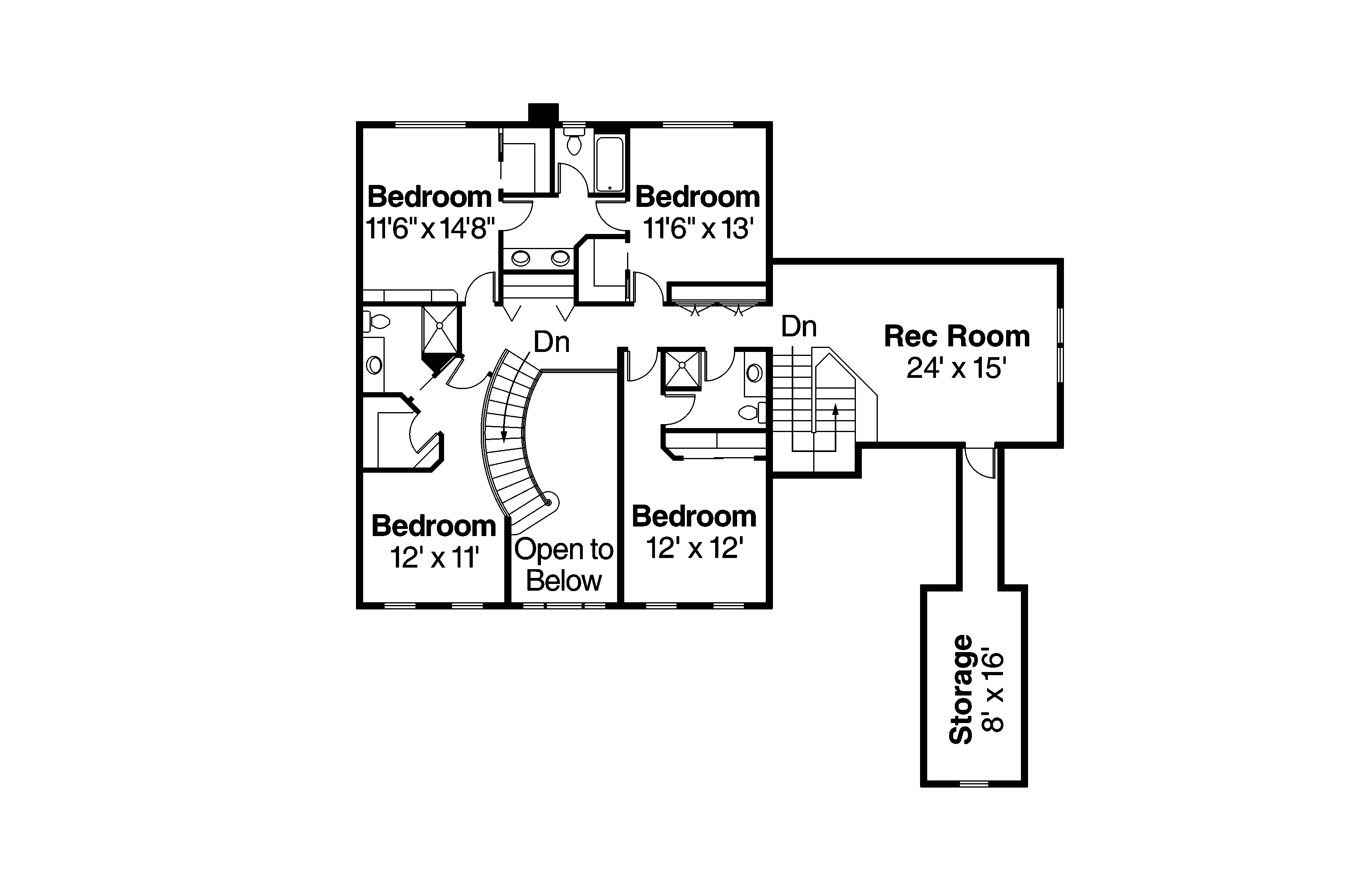 Colonial House Plans - Palmary 10-404 - Associated Designs