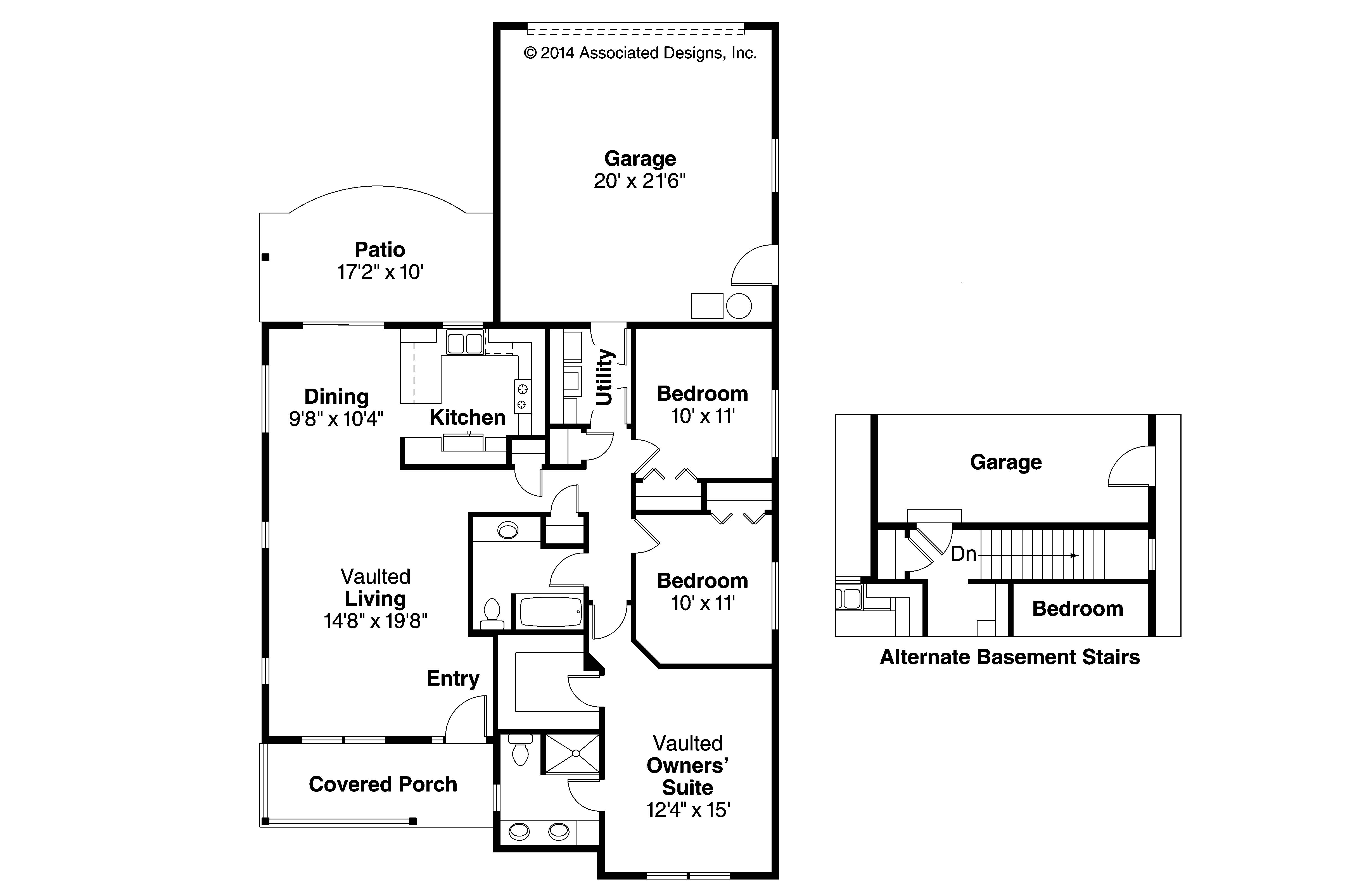 Narrow Lot Home Plans Cottage House Plans Callaway 30 641 Associated Designs
