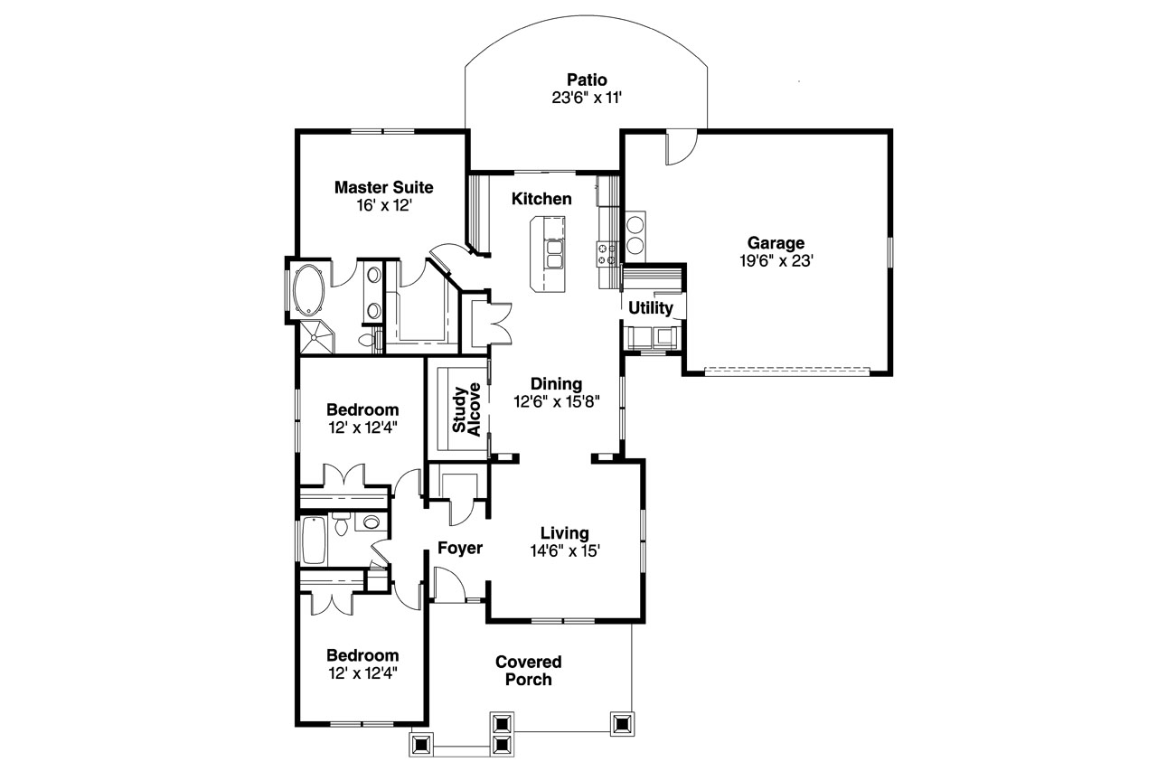 House Plan Small Home Design: Cottage House Plans