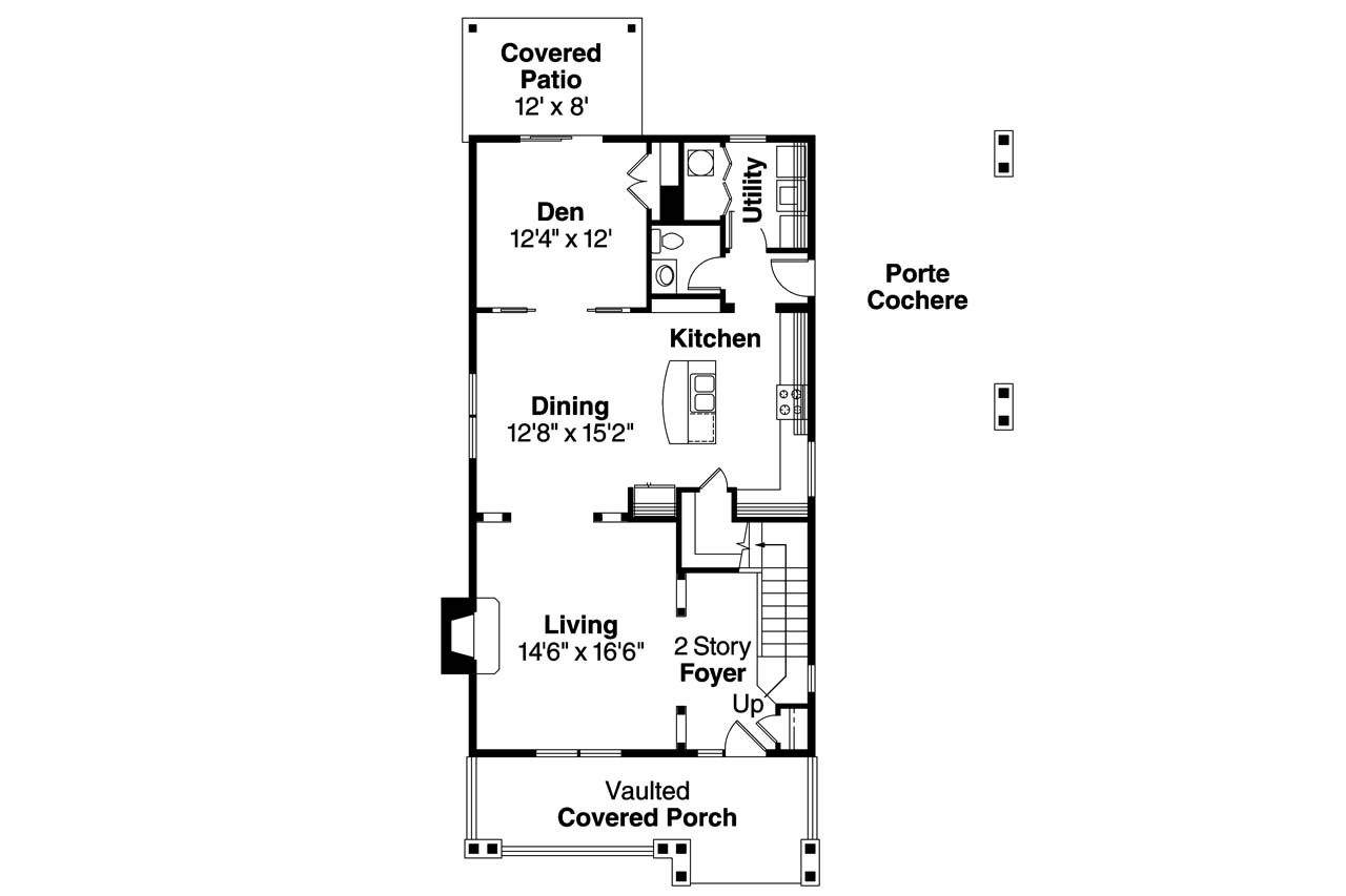 The Ansley Floor Plan: Craftsman House Plans