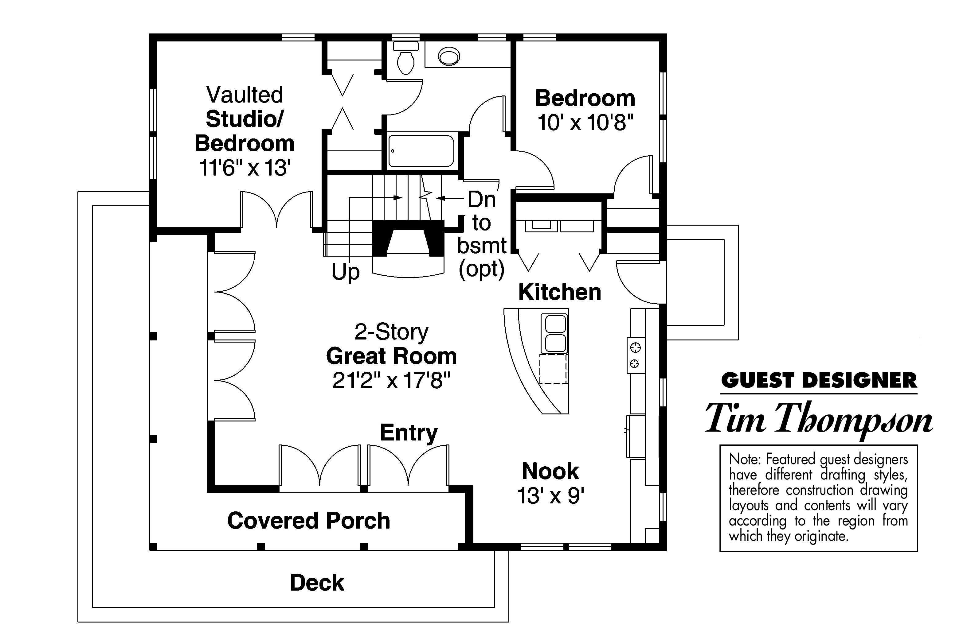 Small Cabin Floor Plan Craftsman House Plans Cedar View 50 012 Associated Designs