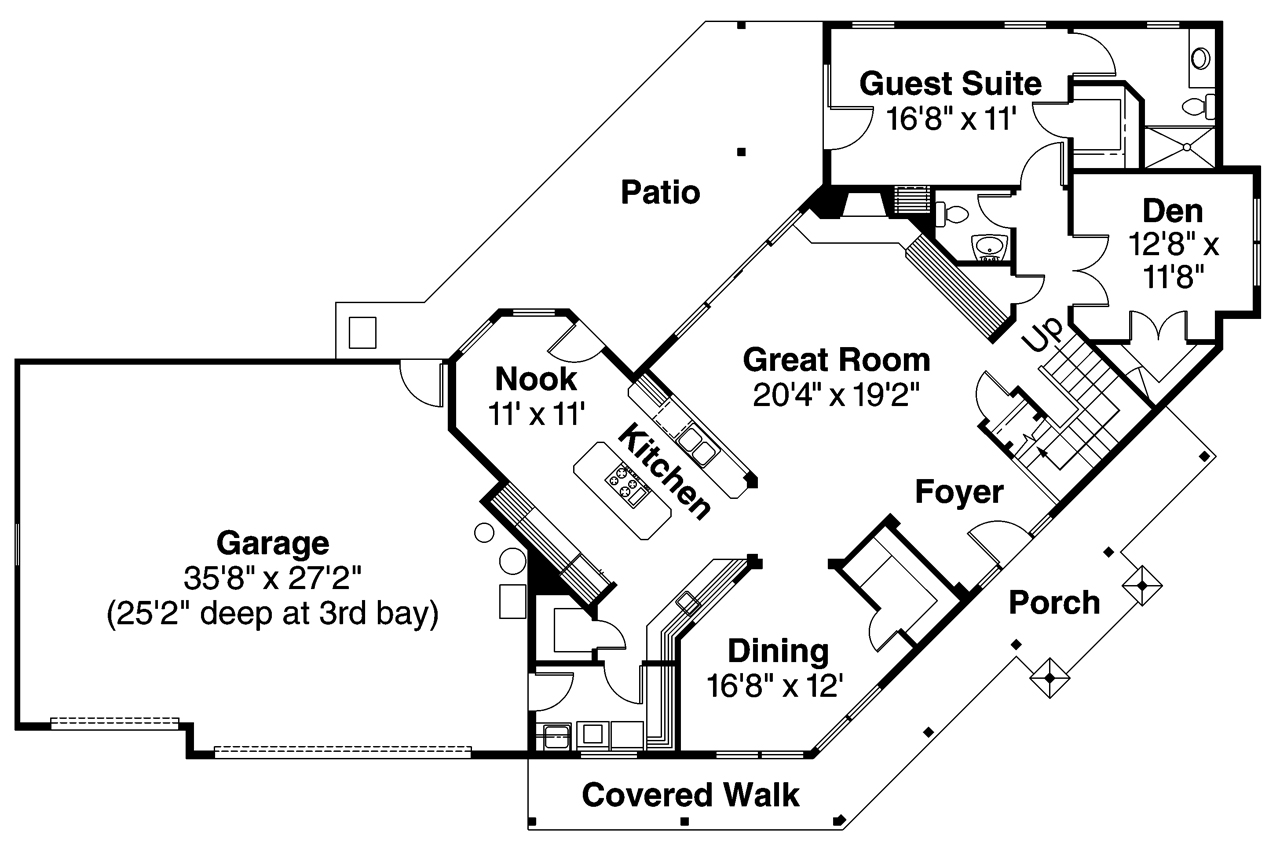Large House Floor Plans Craftsman House Plans Rutherford 30 411 Associated Designs