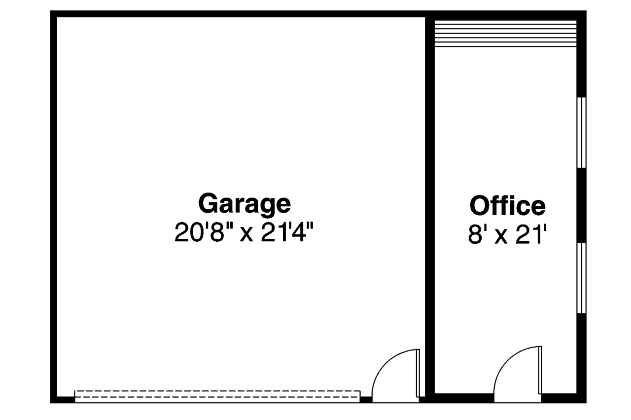 Traditional House Plans Garage W Office 20 014