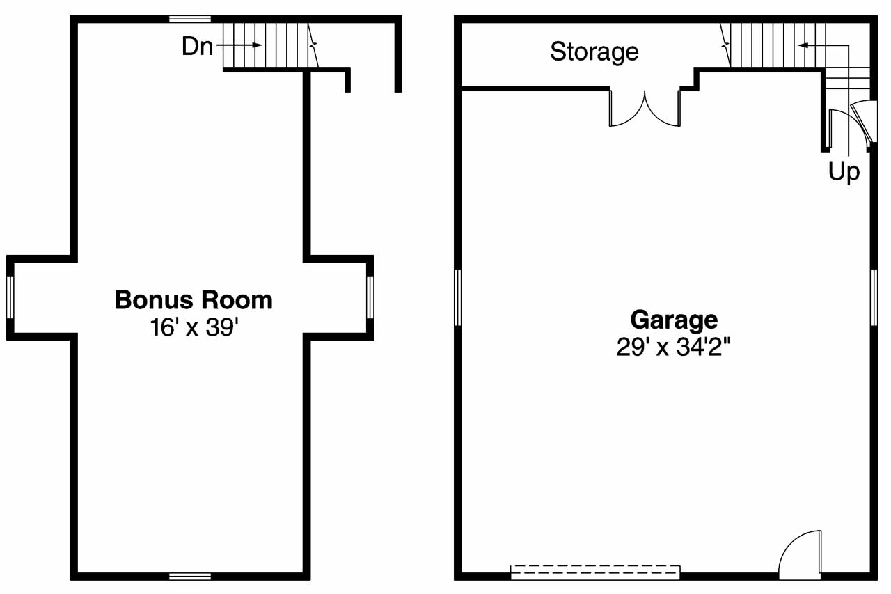 Garage Floor Plans With Bonus Room Gurus Floor