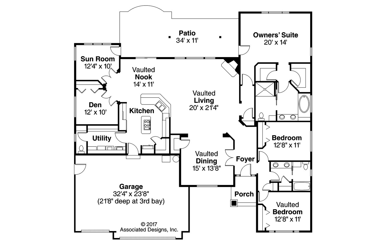 Georgian House Plans - Lupine 30-747 - ociated Designs on house with a great room floor plans, house with garage apartment floor plans, house with open concept floor plans,