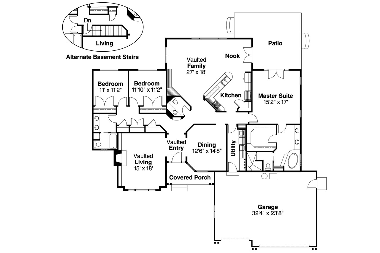 traditional floor plans traditional house plans jessica 30 049 associated designs 6662