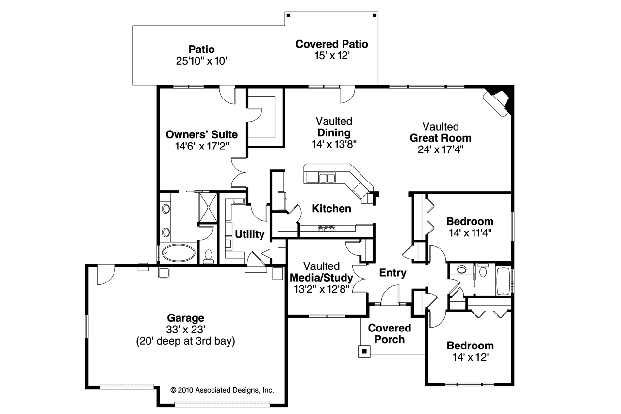 Traditional house plans springwood 30 772 associated for Traditional open floor plans
