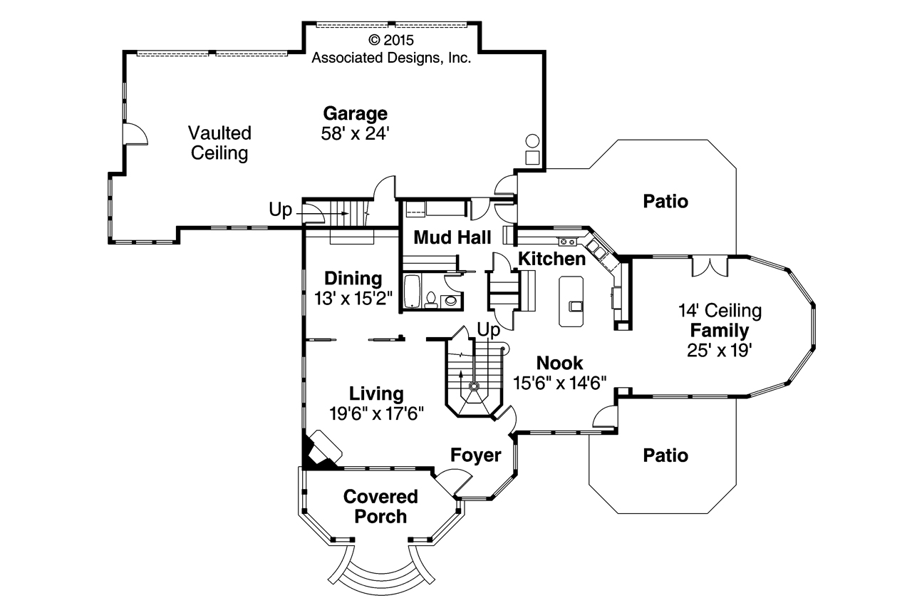 Victorian House Plan   Canterbury 30 516   First Floor Plan ...
