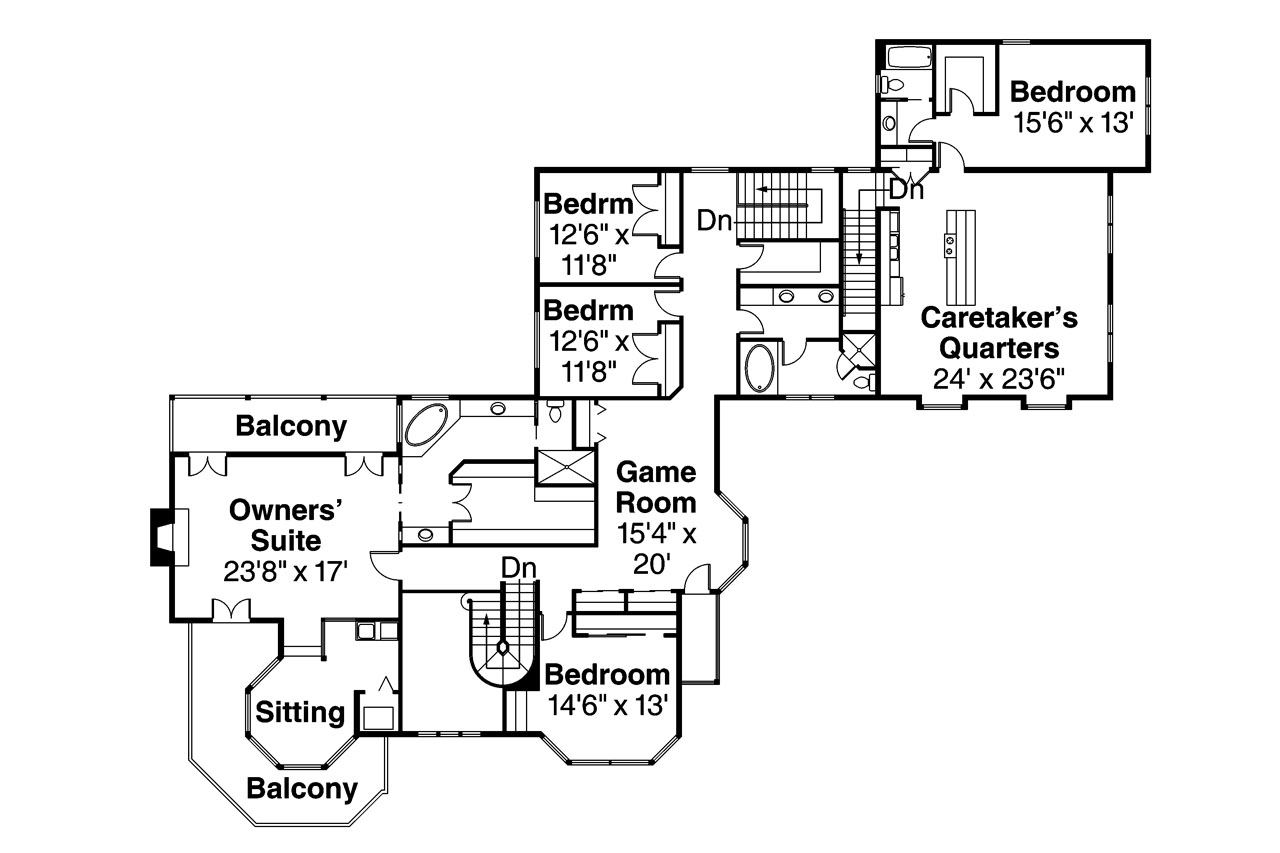 Victorian House Plan   Victorian 10 027   2nd Floor Plan ...