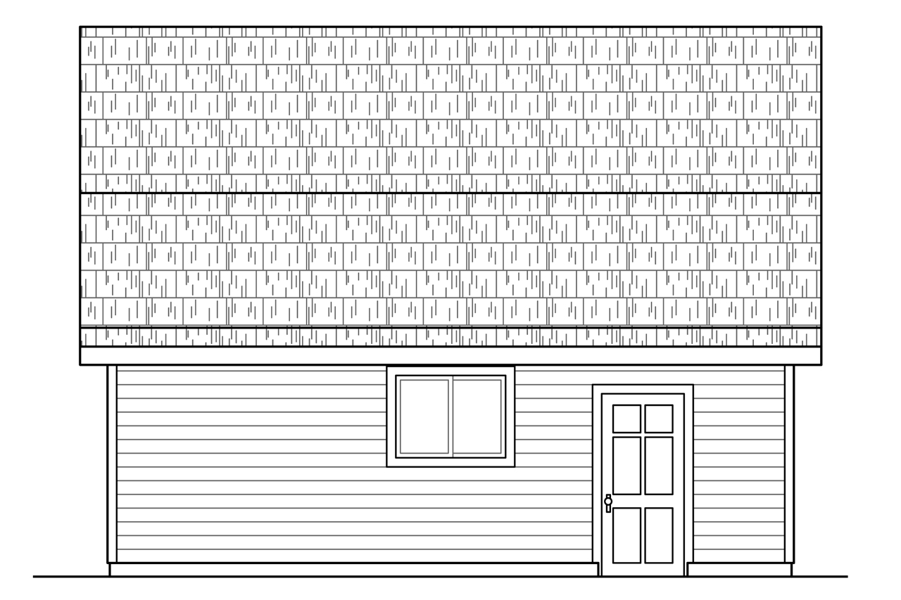 Plan And Elevation Of Car : Country house plans garage w attic associated