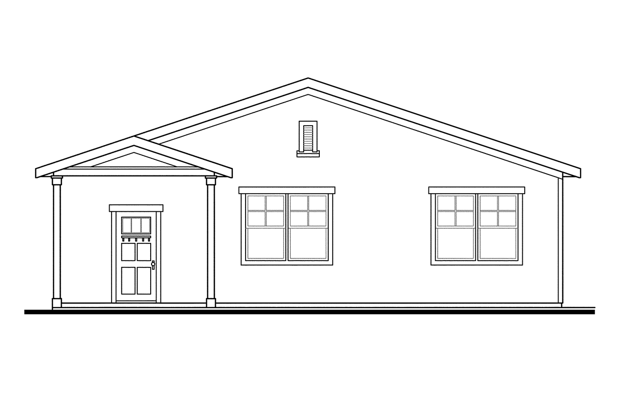 craftsman house plans  rec room 20