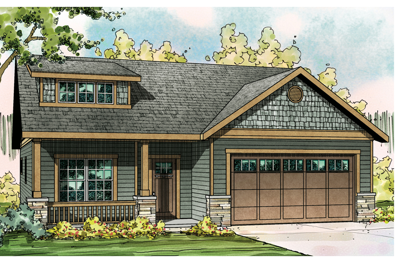Craftsman House Plan   Cedar Ridge 30 855   Front Elevation ...