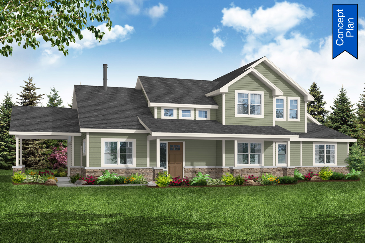 5 Bedroom Country House Plan - Idyllwild 31-220