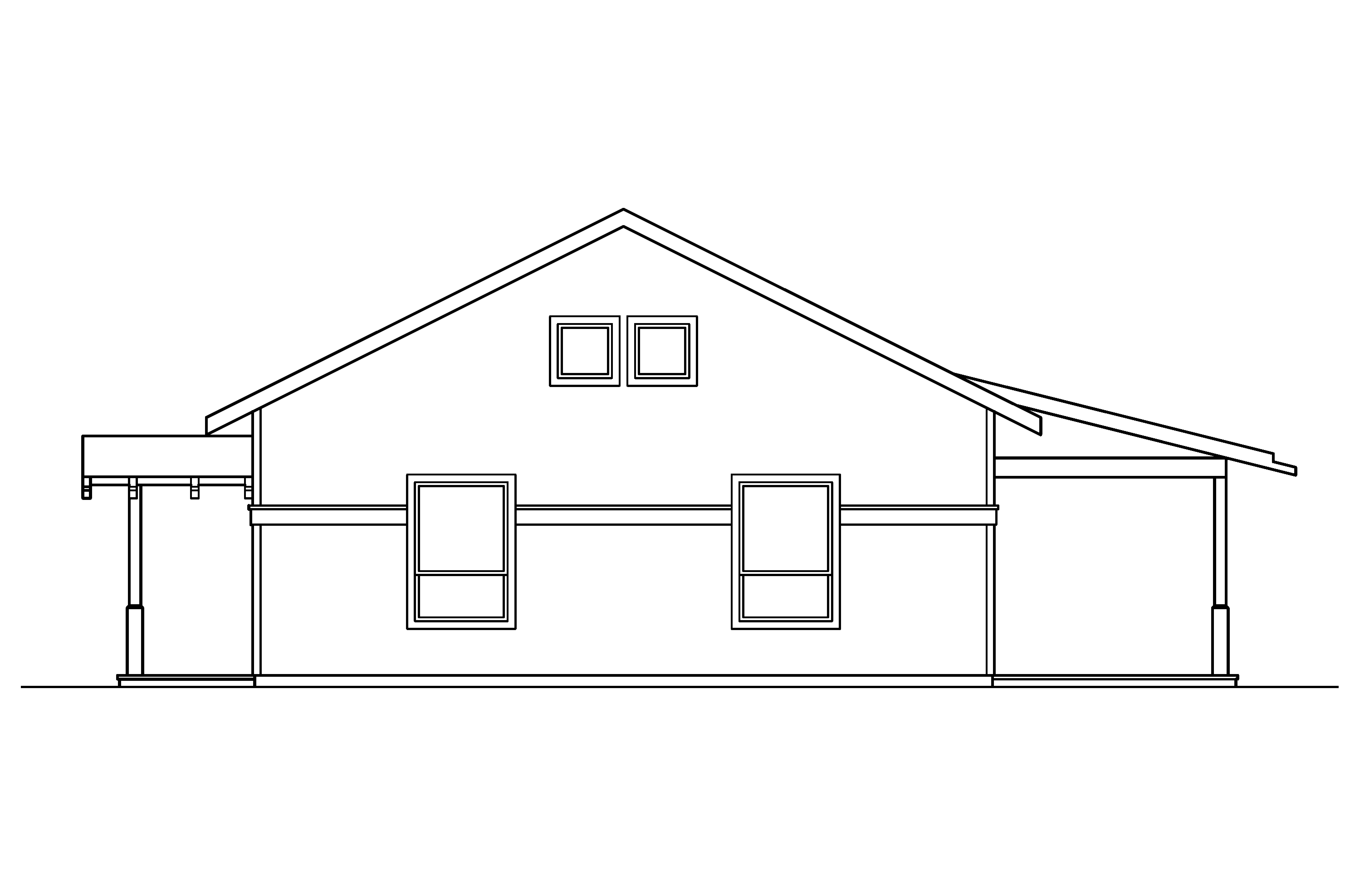 Bungalow House Plans - Kent 30-498 - ociated Designs on house elevation blueprint, house floor plan and elevation, house side elevation plan,