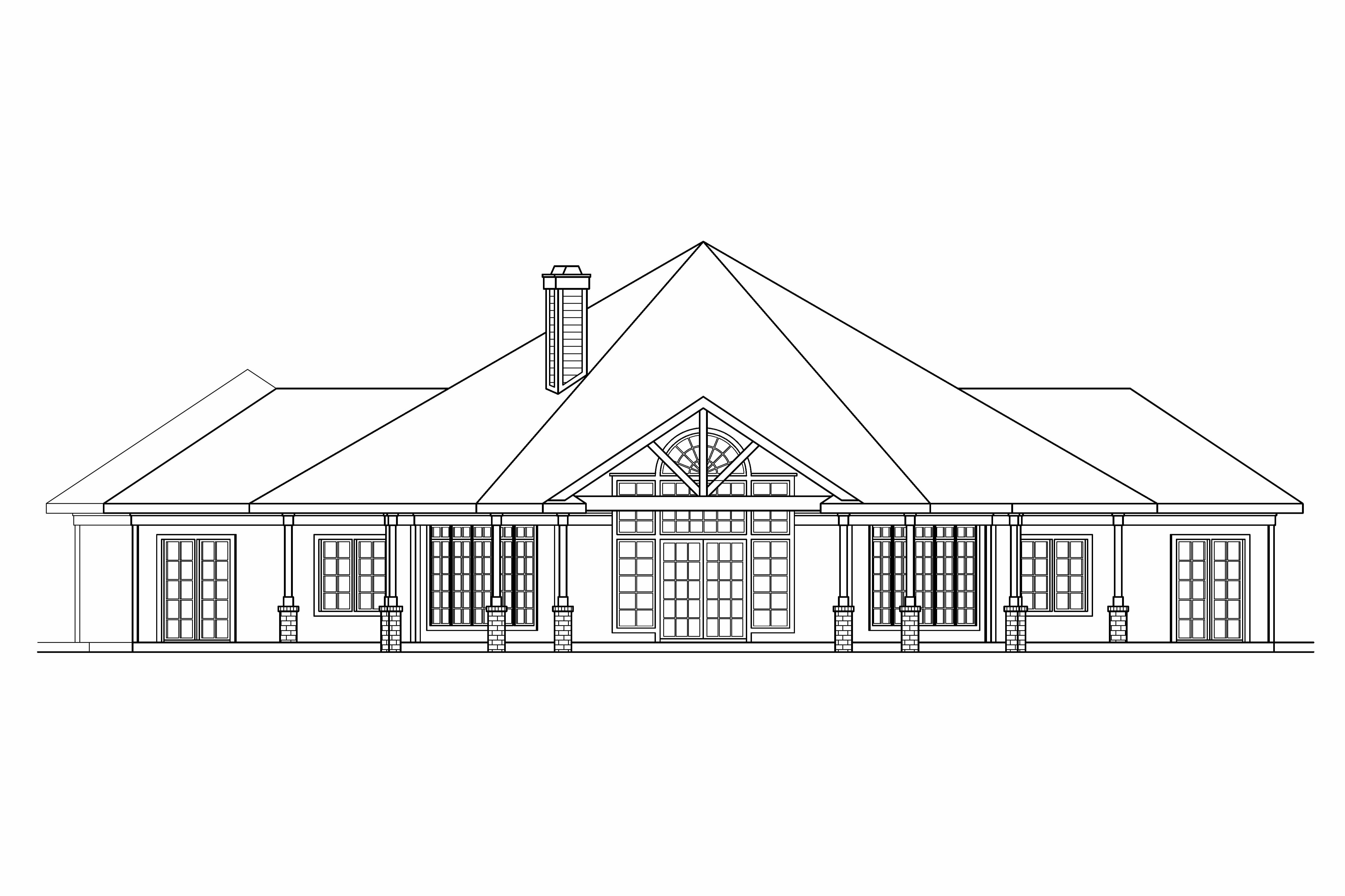 Single Floor Home Plan And Elevation : Georgian house plans myersdale associated designs