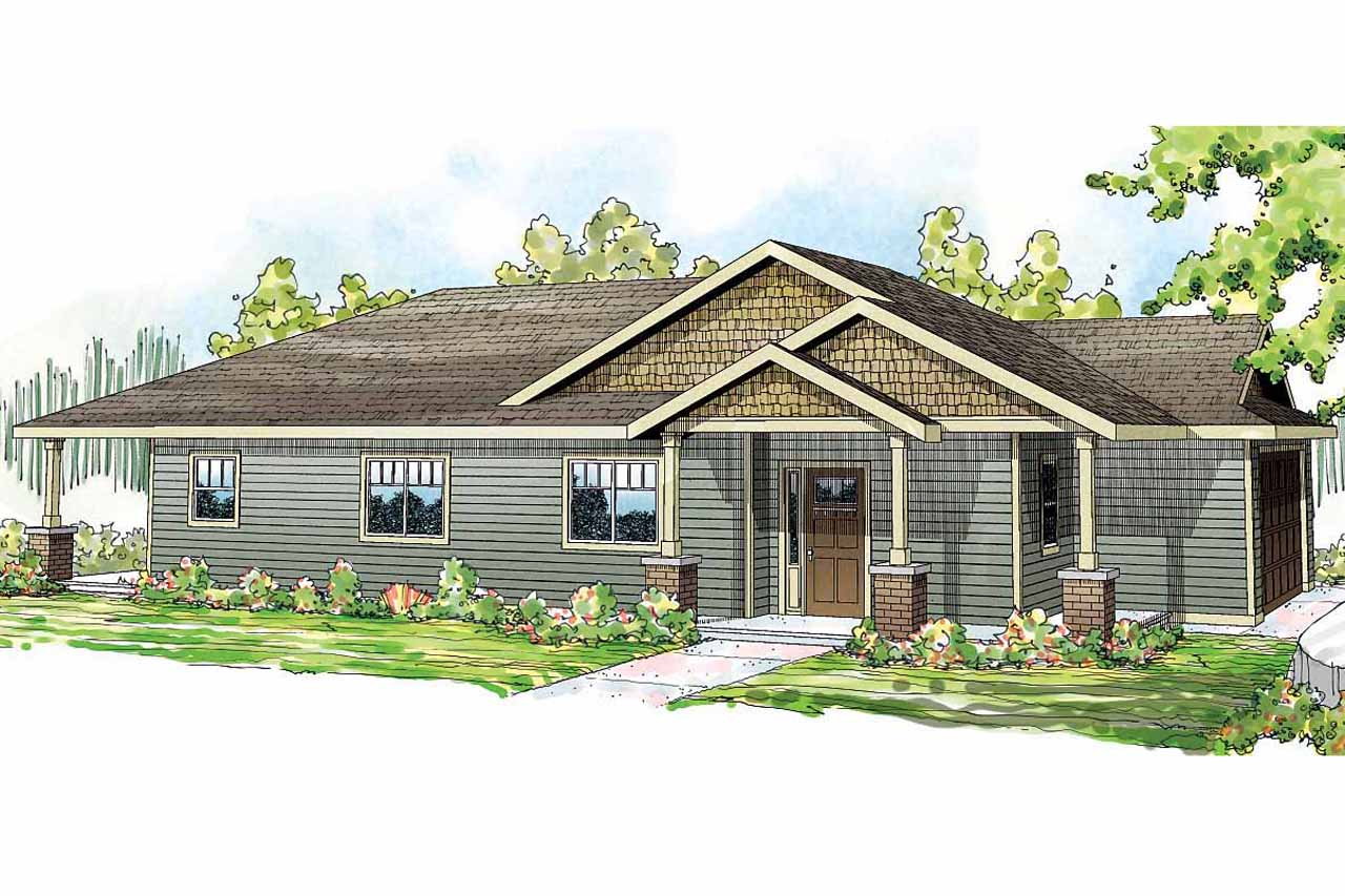 One Level House Plan - Hopewell 30-793