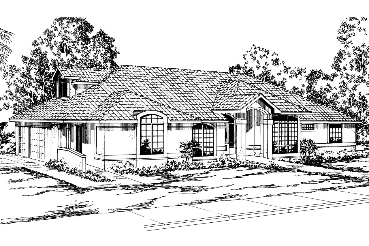 Spanish Style House Plans Santa Maria 11 033