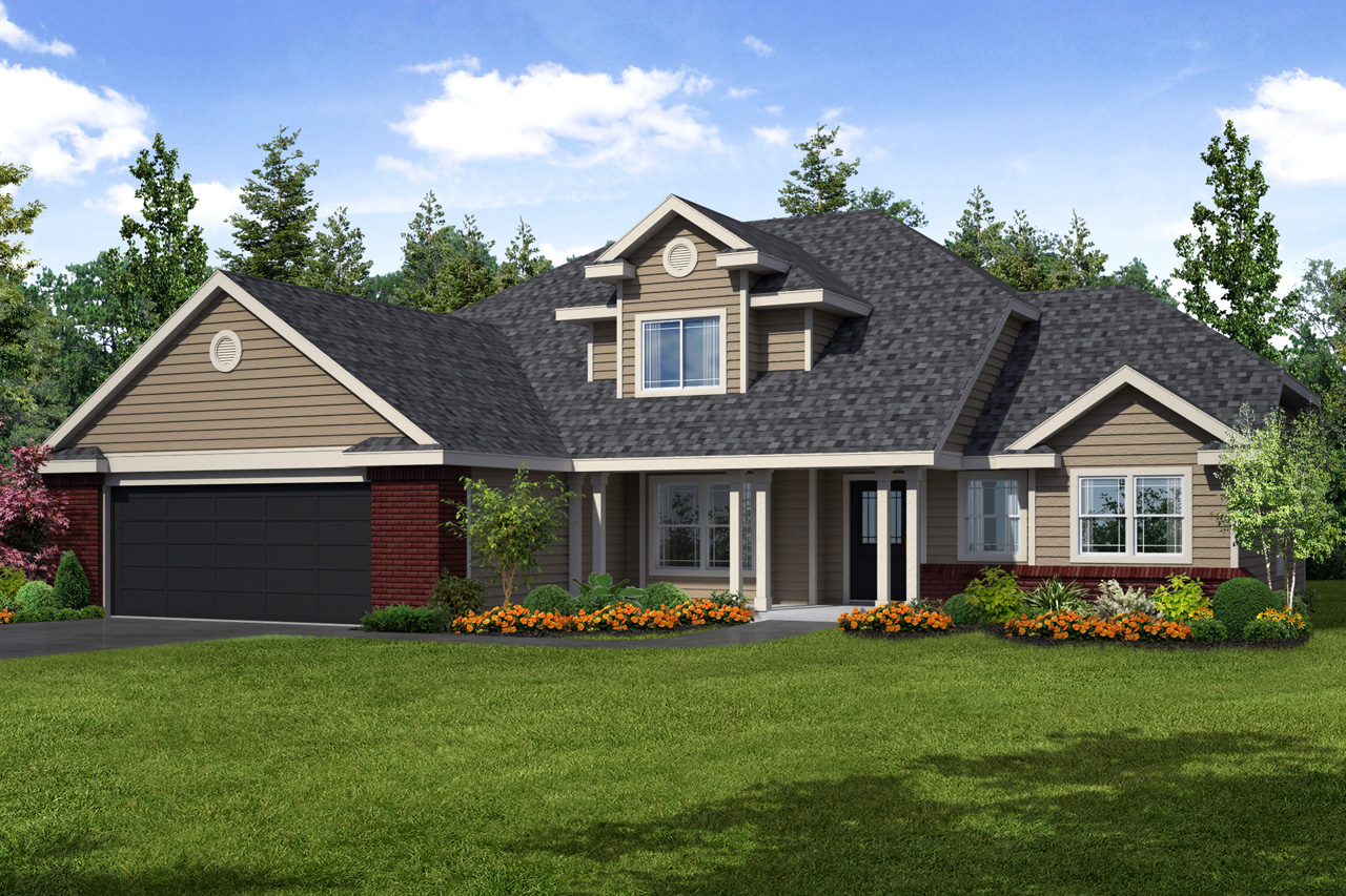 Traditional house plans chivington 30 260 associated - Traditional home plans and designs ...