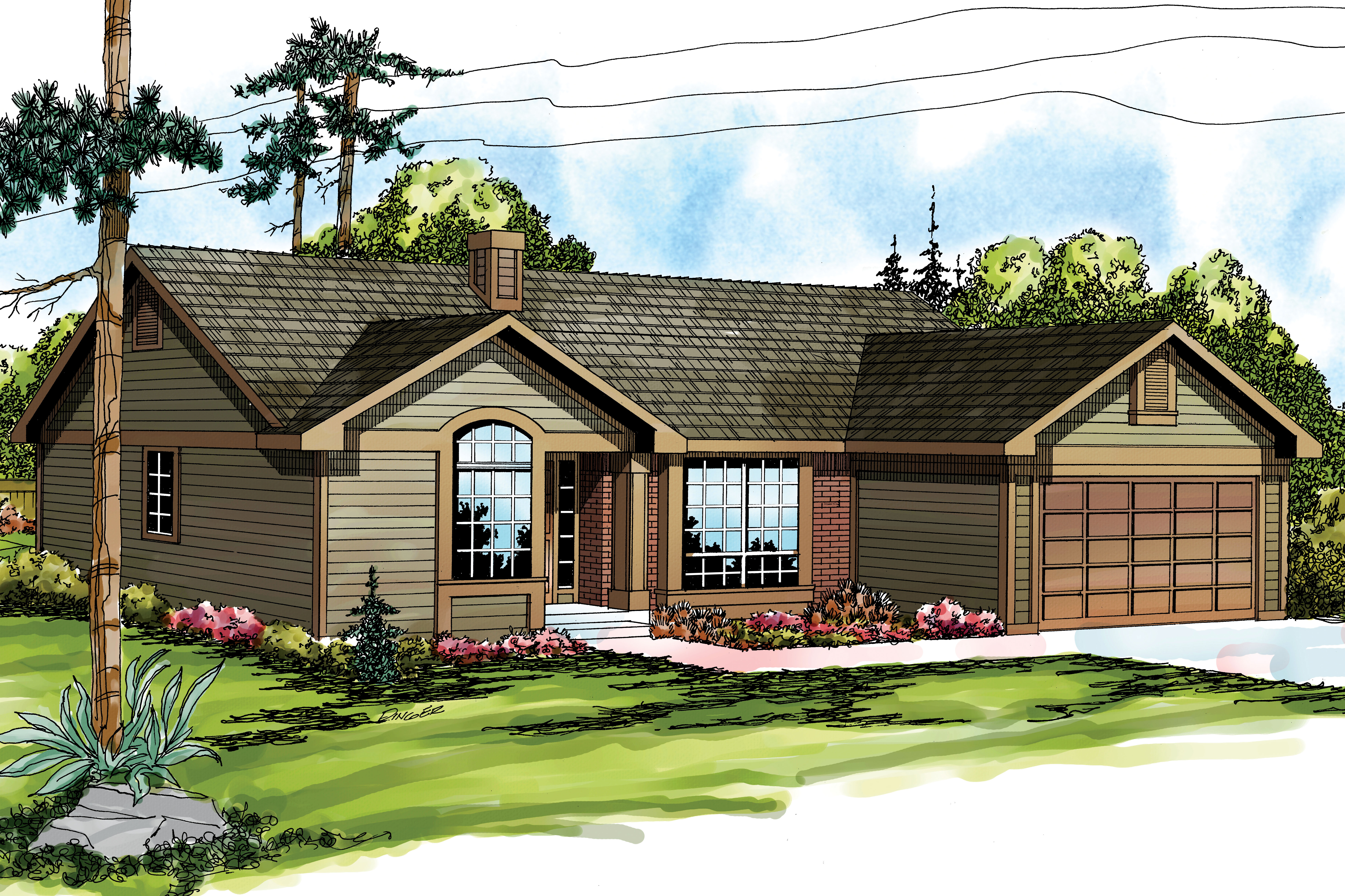 U Shaped Kitchen With Island Traditional House Plans Phoenix 10 061 Associated Designs